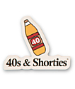 40s and Shorties 40 pegatina