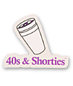 40s and Shorties pegatina copa doble