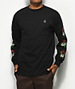 4Hunnid La Rosa Black Long Sleeve T-Shirt