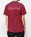 4Hunnid Red & Blue Striped T-Shirt