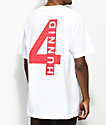 4Hunnid Triple 4 White T-Shirt