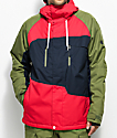 686 Geo Red Colorblock 10K Snowboard Jacket