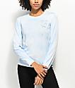 A-Lab Aby Literally Dead camiseta de manga larga con efecto tie dye azul