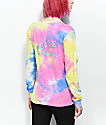 A-Lab Aby Peace Out Multi Tie Dye Long Sleeve T-Shrit