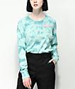 A-Lab Aby camiseta azul de manga larga con efecto tie dye