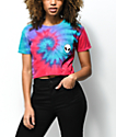 A-Lab Ballina Alien Pink & Purple Tie Dye Crop T-Shirt