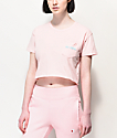 A-Lab Ballina Be Cool Pink Crop T-Shirt