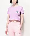 A-Lab Ballina Heart Purple Crop T-Shirt