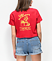 A-Lab Ballina Sally Succulents Red Crop T-Shirt