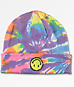 A-Lab Ever Smiley Face gorro con efecto tie dye