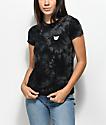 A-Lab Ezra Cat camiseta negra con efecto tie dye