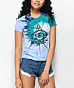 A-Lab Ezra Peace Eye camiseta azul con efecto tie dye