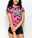A-Lab Ezra Watch This Pink & Black Tie Dye T-Shirt
