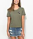 A-Lab Hana Alien Space Olive T-Shirt