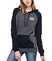A-Lab Larissani Space Babe Black & Charcoal Womens Hoodie