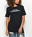 A-Lab Leema Maybe Tomorrow Boyfriend Black T-Shirt