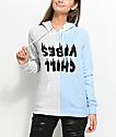 A-Lab Marlen Chill Vibes Split sudadera con capucha en gris y azul