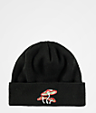 A-Lab Mushrooms Black Beanie