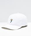 A-Lab Pink Rose White Strapback Hat