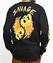 A-Lab Savage Flames Long Sleeve Black T-Shirt