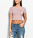 A-Lab Serina Moon Mauve Crop Top