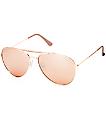 Accomplice gafas de sol aviator en color oro rosa