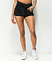 Almost Famous Jada Hi Rise Black Shorts