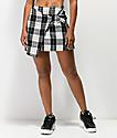 Almost Famous O-Ring Black Plaid Mini Skirt