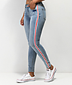 Almost Famous Side Stripe Light Wash Jeggings