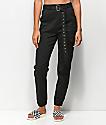 Almost Famous pantalones negros con cinturón