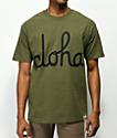 Aloha Army Logo Script camiseta verde militar