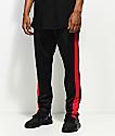American Stitch Black & Red Tricot Track Pants
