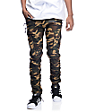American Stitch Camo Cargo Moto Twill Bungee Jogger Pants