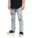 American Stitch Denim Collection jeans rotos en lavado ácido azul