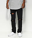 American Stitch Knee Ripped Black Denim Jeans