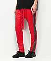 American Stitch Red & Green Stripe Tricot Track Pants