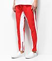 American Stitch Tricot pantalones de chándal en rojo y blanco
