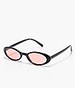 Angel gafas de sol estilo ojo de gato en negro y rojo