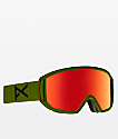 Anon Relapse Bear Green Red Solex Snowboard Goggles