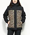 Aperture Glisten 10K chaqueta de snowboard negra y leopardo