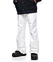 Aperture Green Line 10k pantalones de snowboard en blanco