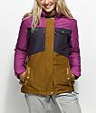 Aperture Heaven 10K chaqueta de snowboard morada y marrón