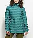 Aperture River Run Teal Melange 10K Snowboard Jacket