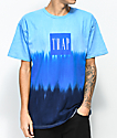Artist Collective Fall Into Trap Blue Tie Dye T-Shirt