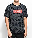 Artist Collective Its Lit camiseta negra con efecto tie dye