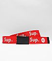 Artist Collective Sup Red Web Belt