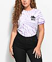 Artist Collective Trap House camiseta morada con efecto tie dye