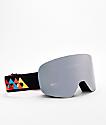 Ashbury Sonic Flash Black & Silver Snowboard Goggles