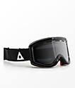 Ashbury Warlock Black Triangle Silver Snowboard Goggles