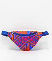 Barganza Orange & Pink Woven Fanny Pack